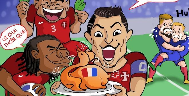 Hi hoa hanh trinh vo dich Euro 2016 cua Ronaldo va dong doi hinh anh