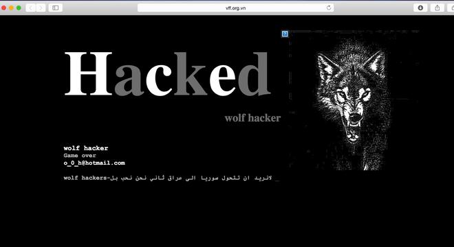 Trang chu VFF bi hacker tan cong hinh anh 1