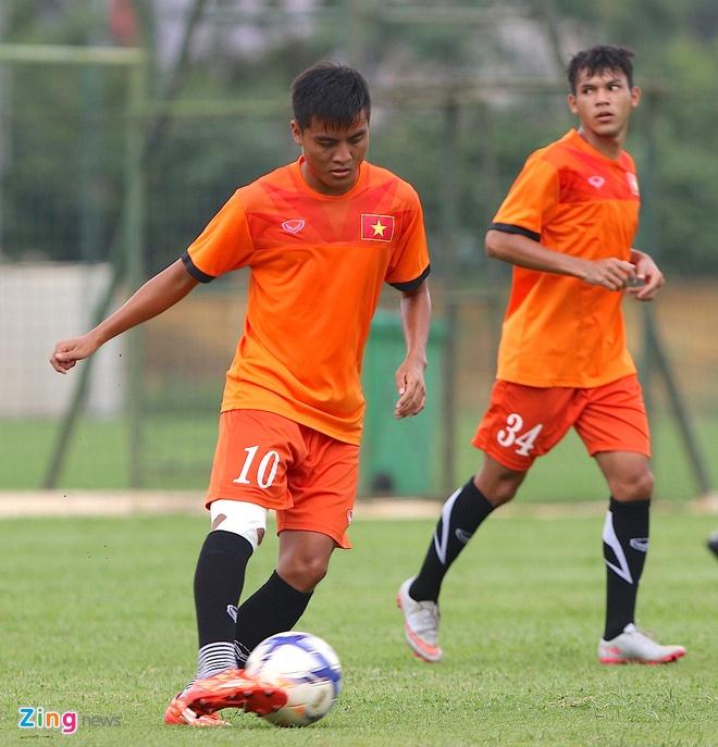U19 Viet Nam tap o Ha Noi anh 4