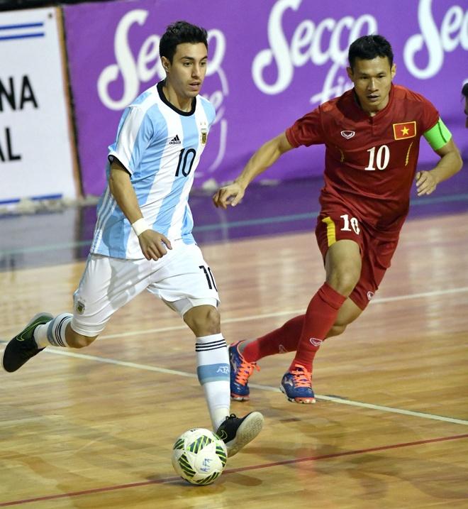 futsal Viet Nam thua nguoc Argentina anh 1
