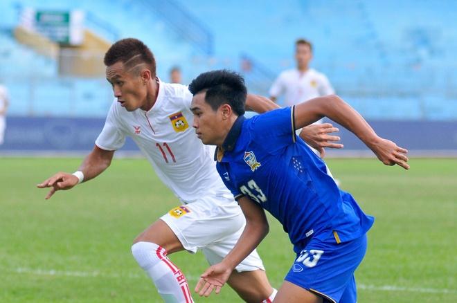 U19 Thai Lan vat va thang Lao 2-1 hinh anh