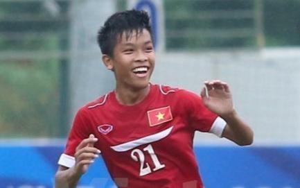 Huu Thang vao top 8 cau thu dang xem nhat tu ket U16 chau A hinh anh