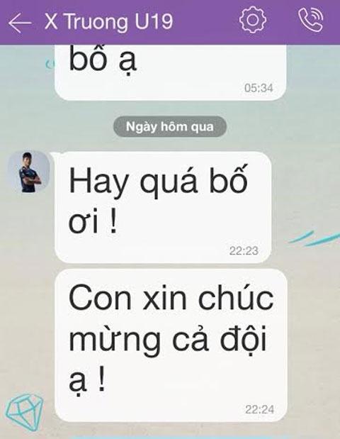 Dong Trieu chuc mung U19 Viet Nam anh 1