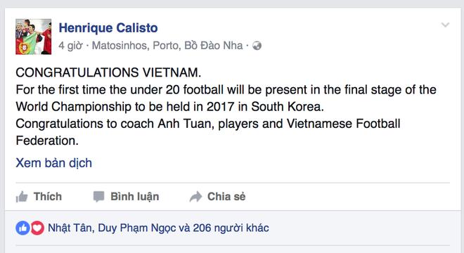 HLV Calisto va Cong Vinh tu hao ve U19 Viet Nam hinh anh 2