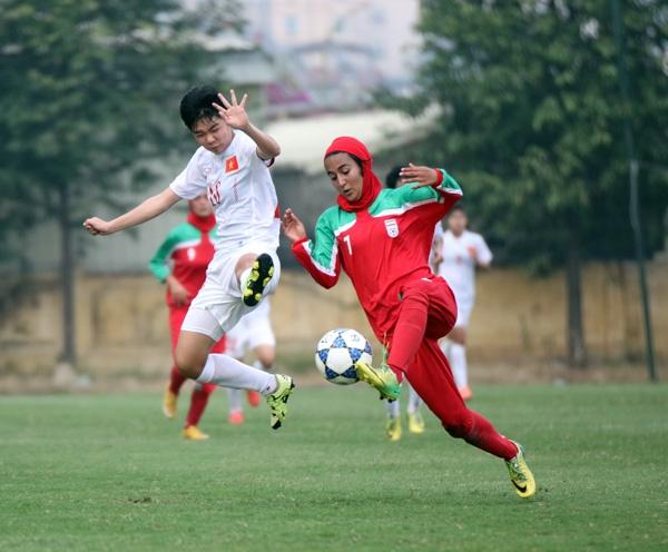 Thang Iran 2-0, U19 nu Viet Nam gianh ve du VCK chau A hinh anh 1