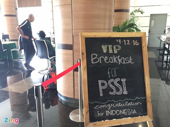 Indonesia duoc dai bua an VIP truoc khi sang Viet Nam hinh anh 1