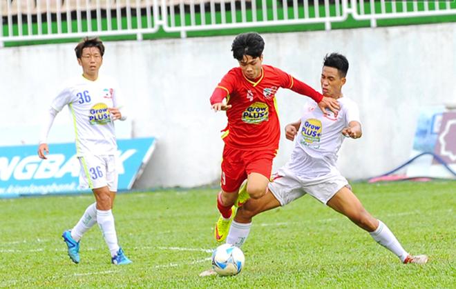 Cong Phuong ghi ban giup U21 HAGL thang doi V.League hinh anh 1