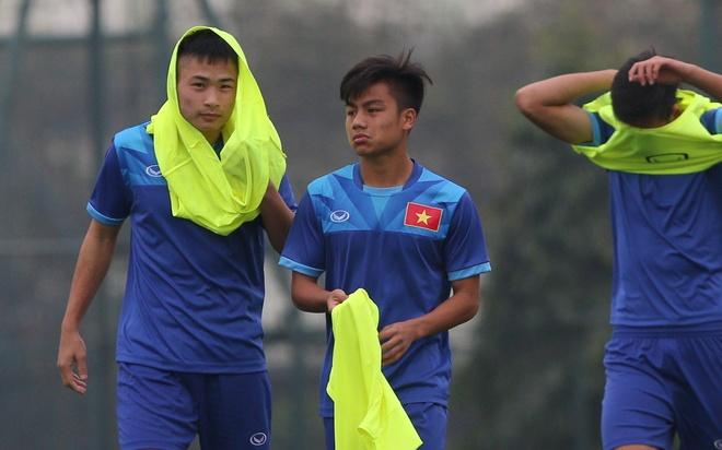U18 Viet Nam tich cuc tap luyen truoc ngay sang Trung Quoc hinh anh