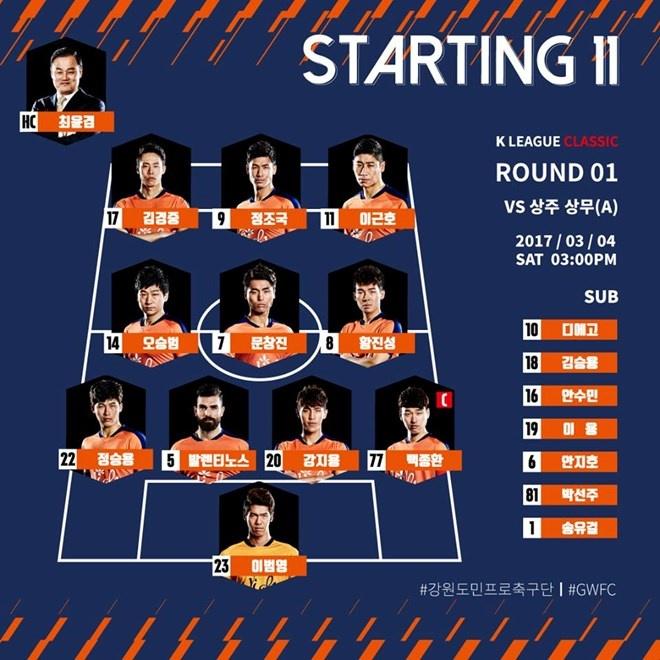 Doi bong cua Xuan Truong len nhom dau bang K.League hinh anh 1
