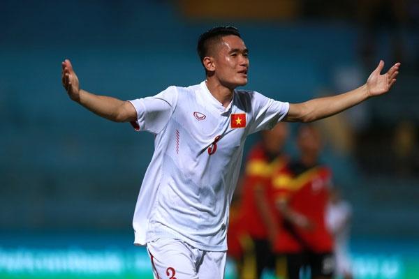 Huynh Tan Sinh danh dau tung luoi U19 Timor Leste hinh anh