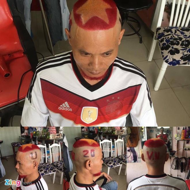 Fan cuong nhuom toc co vu U20 Viet Nam anh 1