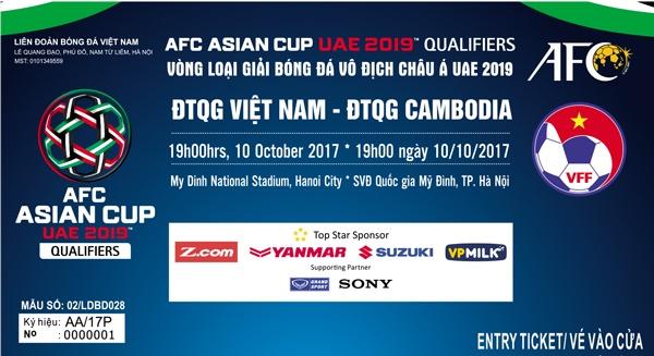 Ve tran tuyen Viet Nam dau Campuchia cao nhat 200.000 dong hinh anh 1