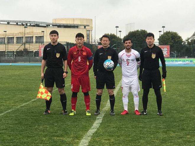 Ha Duc Chinh ghi ban, U23 Viet Nam hoa Palestine o tran giao huu hinh