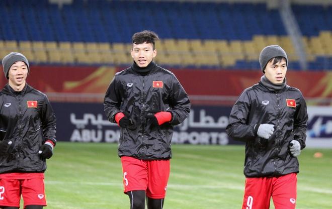 U23 Viet Nam tap lam quen san chinh truoc tran gap U23 Han Quoc hinh anh 2
