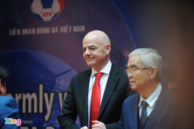 Chu tich FIFA Gianni Infantino tham Viet Nam, anh 1