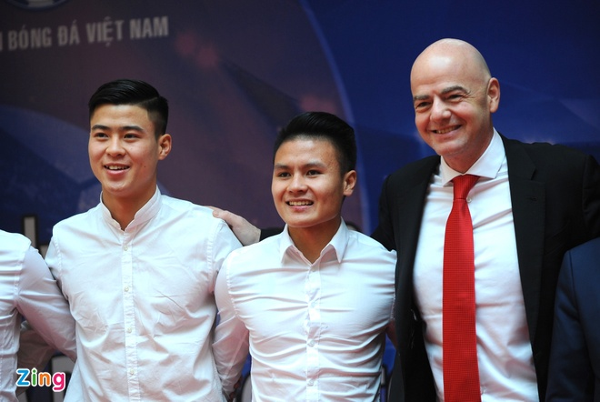 Chu tich FIFA Gianni Infantino tham Viet Nam, anh 2