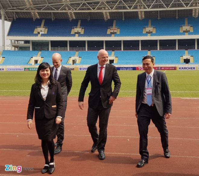 Chu tich FIFA Gianni Infantino tham Viet Nam, anh 3