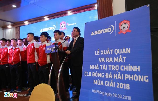 CLB Hai Phong co nha tai tro moi Asanzo, anh 4