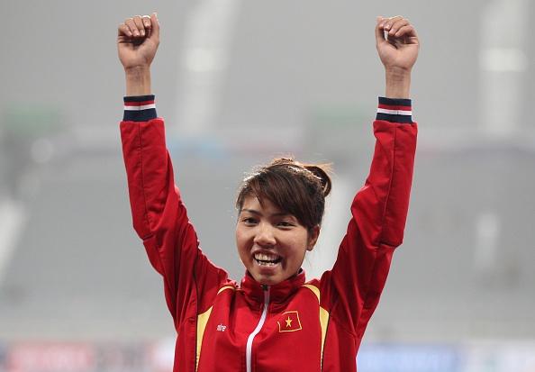 Cuối cùng Thảo chỉ giành HCB do VĐV Indonesia nhảy ở mức 6,55 m ở lần thứ sáu. Ảnh: Getty Images.