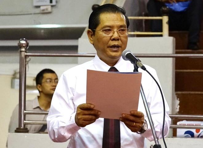 Khai mac cup bong ban Ha Noi moi lan thu 4 hinh anh 1 Ông Tô Quang Phán - TBT Báo Hà Nội mới - Trưởng BTC phát biểu khai mạc. Ảnh: HNM