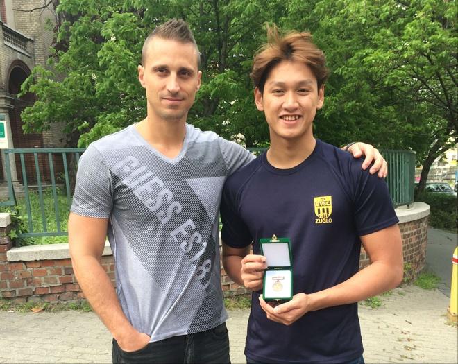 Hoang Quy Phuoc dat 2 chuan B Olympic tai Hungary hinh anh