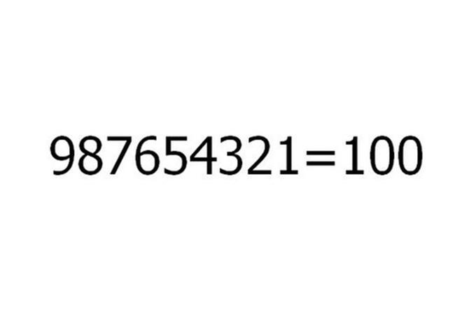 Bai toan 987654321 = 100 hinh anh
