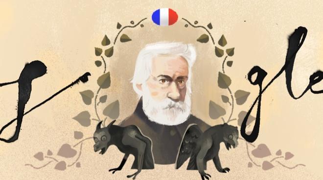 Victor Hugo len Doodle cua Google nhan su kien gi? hinh anh 1