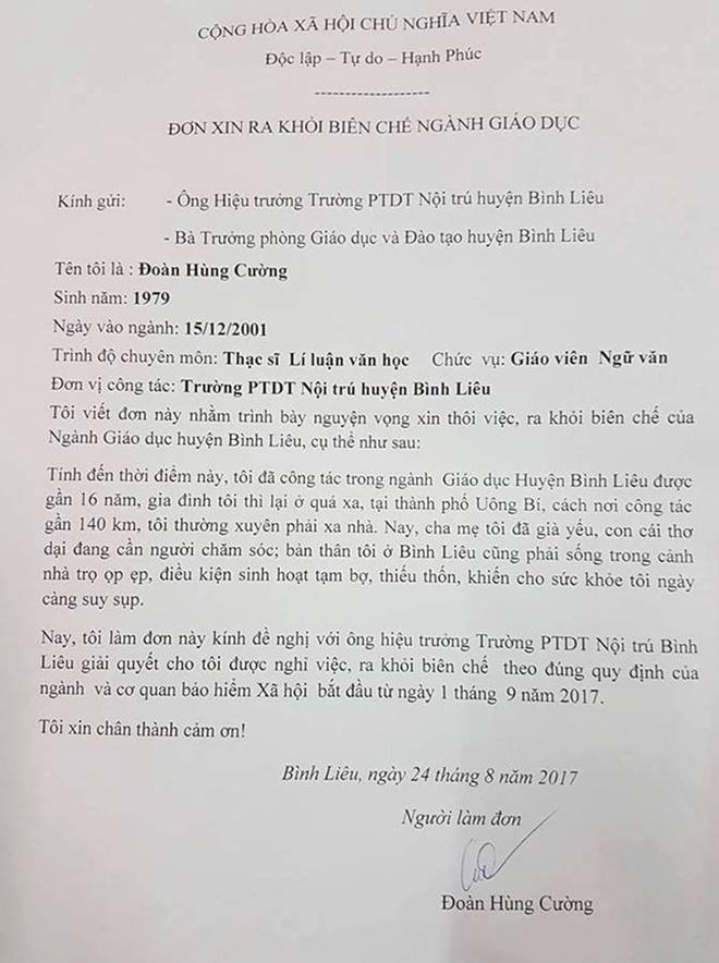 Thay giao xin ra khoi nganh sau 16 nam: Khong lam tot, o lai la tham o hinh anh 1
