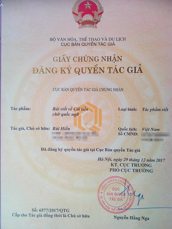 PGS Bui Hien dang ky ban quyen 'Tiew Viet' hinh anh 1