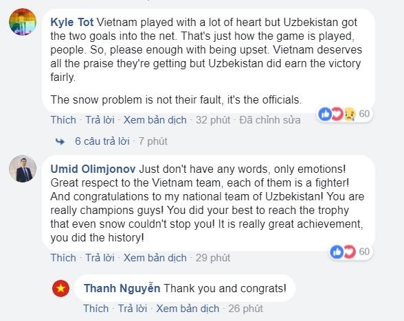 Cong dong mang Uzbekistan kham phuc tinh than cua U23 Viet Nam hinh anh 1