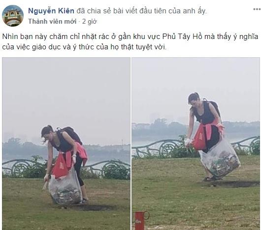 Co gai Tay don rac o Phu Tay Ho: Nha minh sao de khach lam ho? hinh anh 1