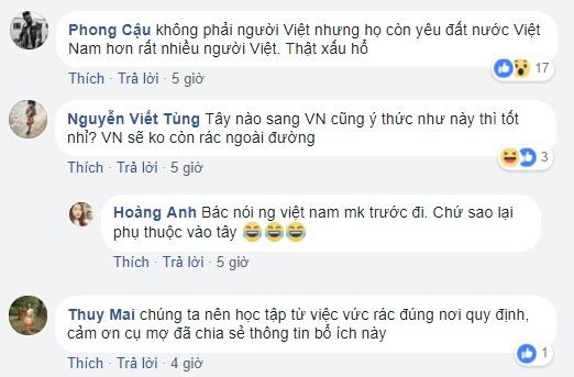 Co gai Tay don rac o Phu Tay Ho: Nha minh sao de khach lam ho? hinh anh 2