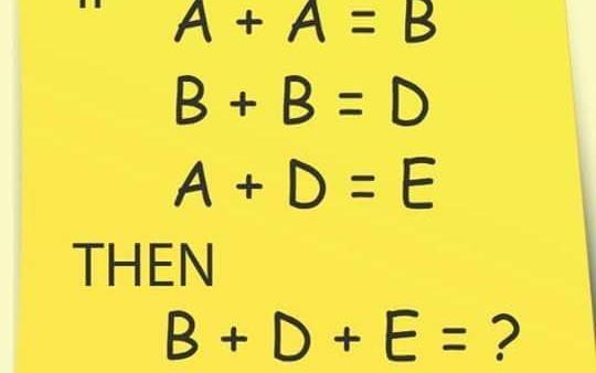 Ban mat bao lau de tinh B + D + E = ? hinh anh