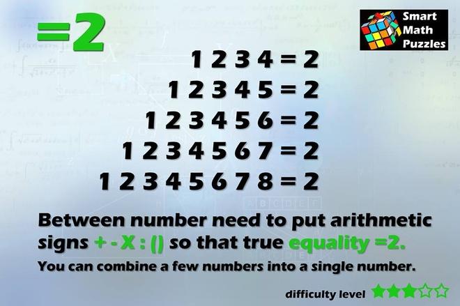 Lam the nao de 12345678 = 2? hinh anh 1