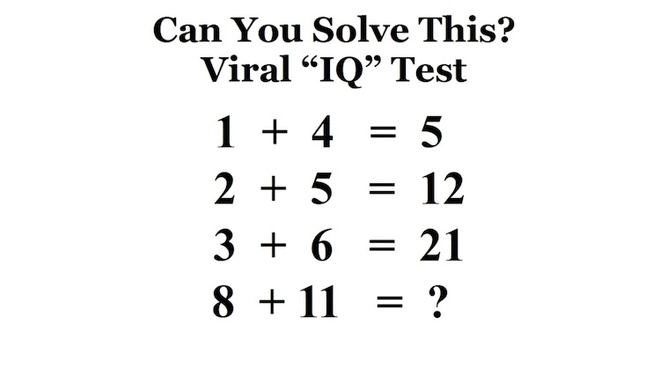 Neu 1 + 4 = 5, 8 + 11 = ? hinh anh 1