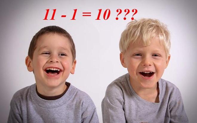 Câu đố chứng minh 11 - 1 = 10 làm khó người giải