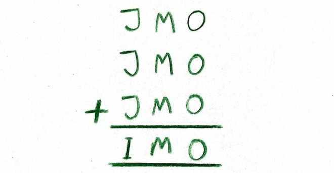 Chi 1% nguoi giai dung cau do JMO + JMO + JMO = IMO hinh anh 1