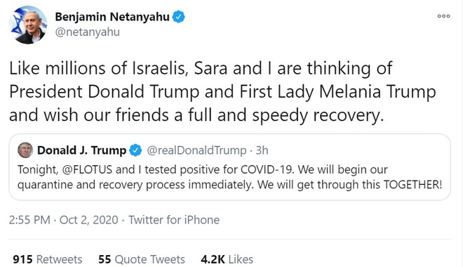 Trump duong tinh Covid-19,  lanh dao the gioi chuc Trump khoi benh anh 2