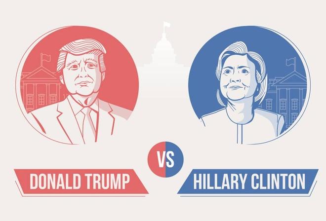 Nhung con so biet noi ve Trump va Clinton hinh anh