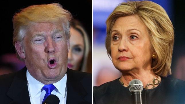 Bat ngo dan diem Clinton, Trump thang tien cac bang Dan chu hinh anh 1