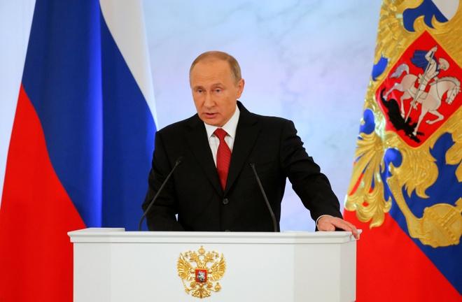 Putin doc thong diep lien bang anh 1