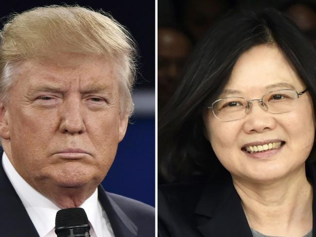 Dien dam cua Trump va lanh dao Dai Loan duoc sap xep tu lau hinh anh