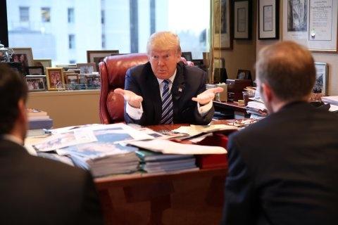 Trump phong van ung vien noi cac nhu truyen hinh thuc te? hinh anh