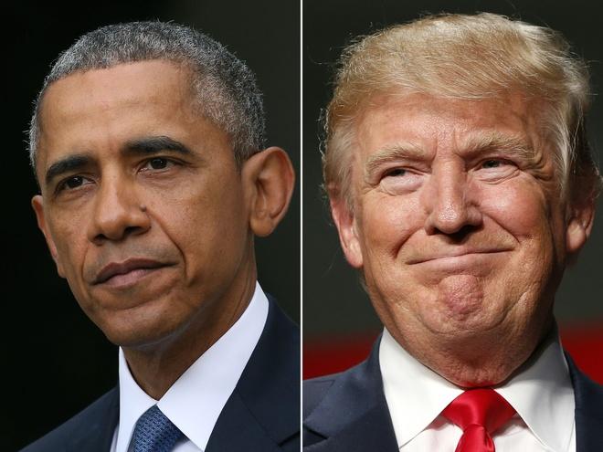 Obama chuc nam moi lan cuoi, Trump chao 2017 den ke thu hinh anh