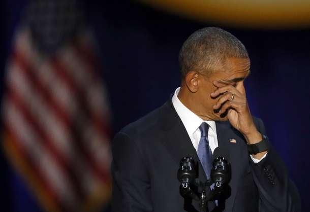 Obama khoc khi noi ve Michelle trong bai phat bieu cuoi hinh anh