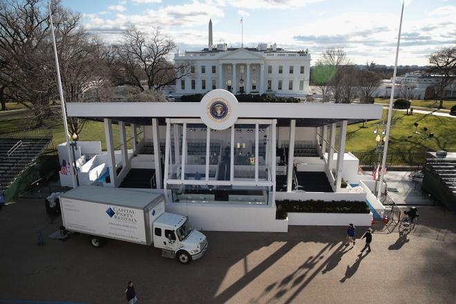 'Dai cong truong' Washington D.C. truoc ngay Trump nham chuc hinh anh