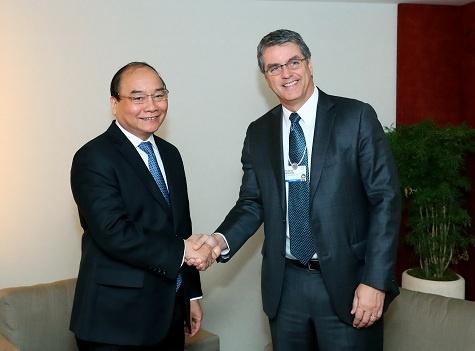 Thu tuong Nguyen Xuan Phuc tiep lanh dao WB, WTO hinh anh 2