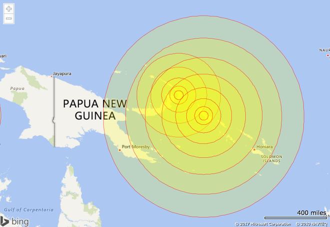 Dong dat 8 do Richter ngoai khoi Papua New Guinea hinh anh