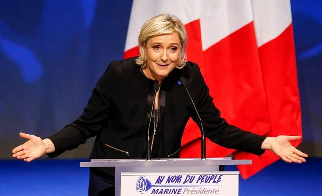 Phap: Le Pen tranh cu voi cam ket 'chong toan cau hoa' hinh anh