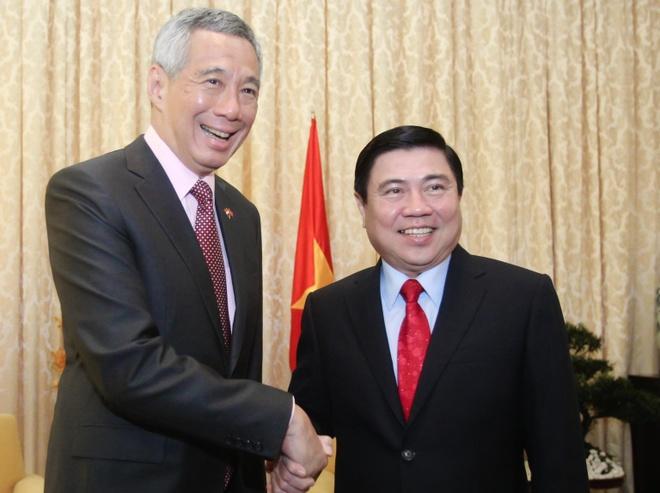 Thu tuong Singapore den TP.HCM, bat dau chuyen tham Viet Nam hinh anh